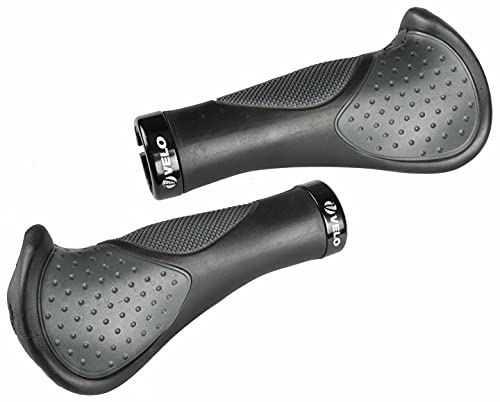 VELO CyclingDeal Ergonomic Anatomic Handlebar Grips Triple Density Bar-end Extensions Soft Anti Slip Absorb Shock CNC G2 Lock