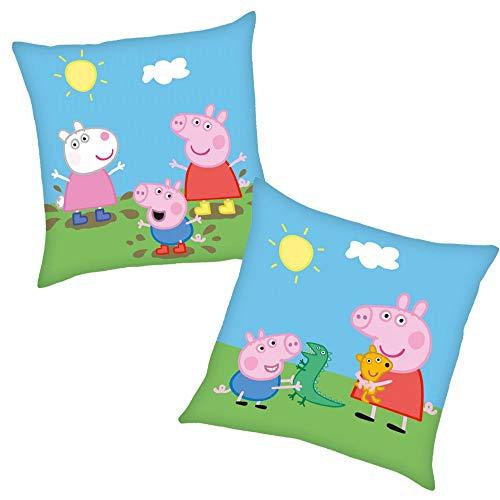 Peppa Friends | Kinder Kissen 40 x 40 cm Wutz Pig | Dekokissen