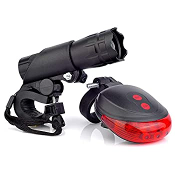 Bike Headlight and Taillight Set - Super Bright Safe LED Lights for Bicycle - Easy to Mount Bike Light Support AAA Batteries with Quick Release System  Upgrade