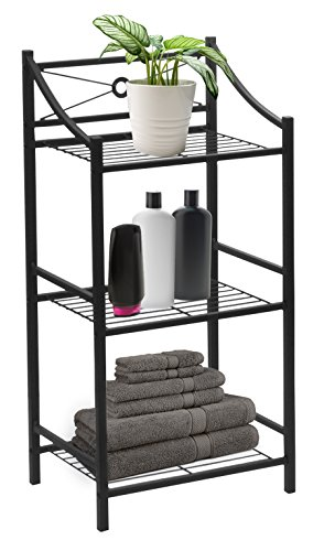 Sorbus Bathroom Storage Shelf, 3-Tier Freestanding Toilet Storage Shelves —...