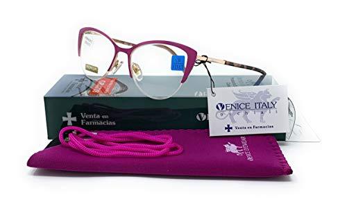 Gafas de presbicia Hombre y Mujer Diseño en Colores: Azul, Morado, Gris y Beige. VENICE MCat - Dioptrías: 1 a 3,5 (Morado, 1,00)