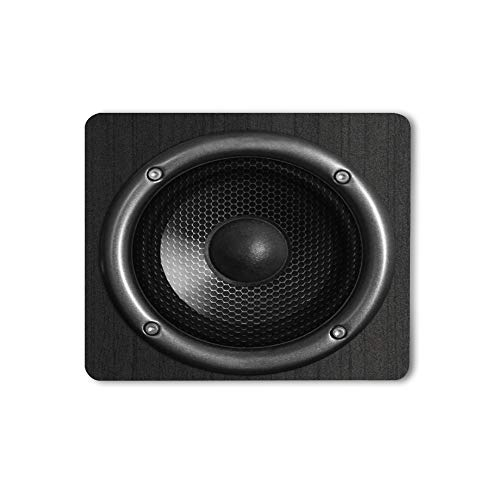 Moslion Speaker Mouse Pad Music Sound Fashion Cool Young Black Gaming Mouse Mat Non-Slip Rubber Base Thick Mousepad for Laptop Computer PC 9.5x7.9 Inch