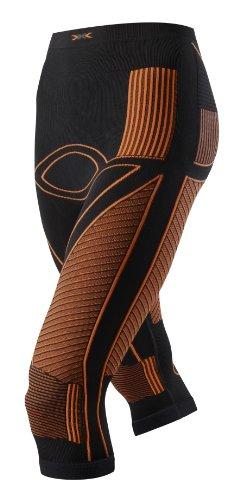 X-BIONIC Pantalon Fonctionnel pour Adulte Lady en Accumulator UW - Taille M - Noir/Orange - Taille L/XL