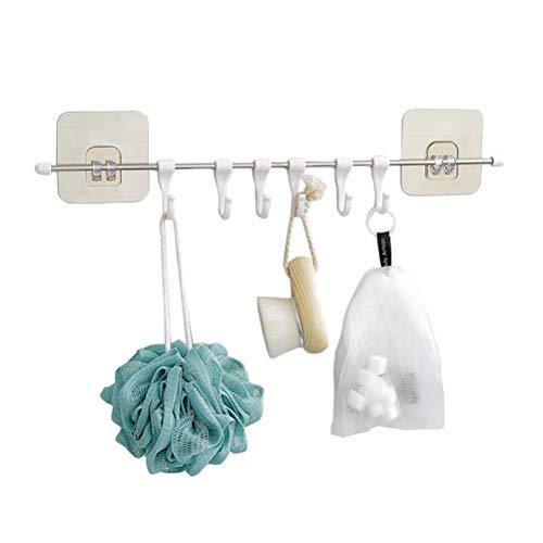 BESTONZON Porte-serviette crochet crochet réutilisable pour porte-crochet adhésif pour douche salle de bain crochet de cuisine sans égratignure étanche mur étanche cuisine (6 crochets)