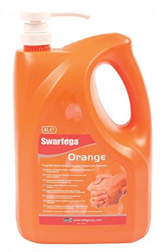 Swarfega SOR4LMP - Jabón líquido con aroma de naranja, 4 l