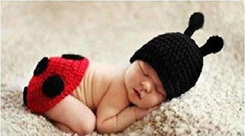 Matissa Ltd - Disfraz de ganchillo, ideal para sesión de fotos escarabajo 1 Talla:recién nacido