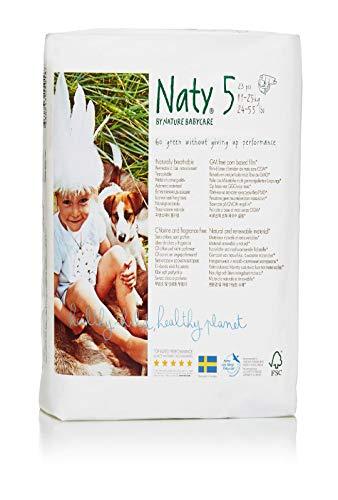 Naty by Nature Babycare, 92 Pannolini Ecologici, Taglia 5 (11-25 kg), 4 confezioni da 23