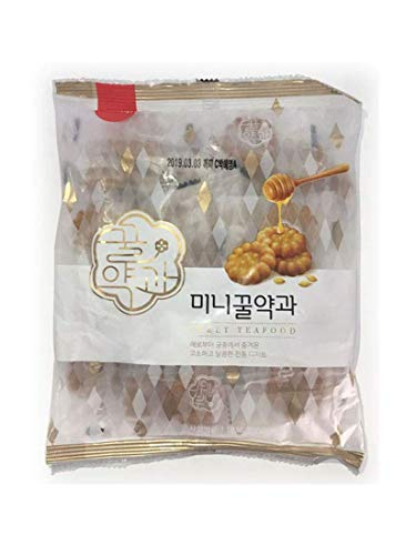 Korean Traditional Sweet Mini honey Yak Gwa Cookies 200 g x 3 Pack (total 600g)