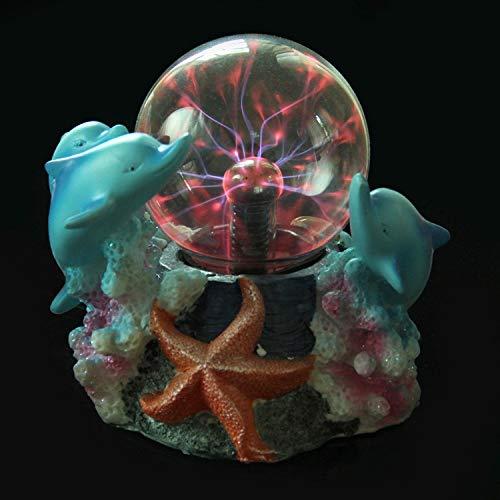 YAOJIA Luz de la Bola de Plasma Forma de delfín Lámpara de...