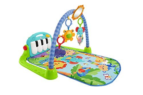 Fisher-Price Rainforest Piano-Gym - Manta de Juego parBebé (Mattel BMH49)