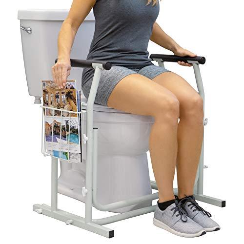 Vive Stand Alone Toilet Rail - Medical Bathroom Safety Assist Frame with Support Grab Bar Handles & Railings for Elderly, Senior, Handicap & Disabled - Freestanding Commode Stability Handrails, Best Toilet Frames Elderly