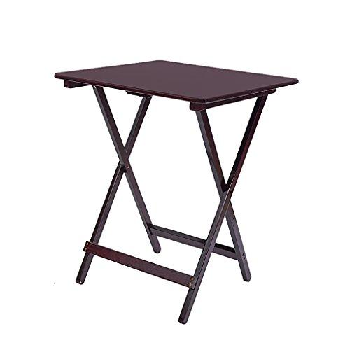 Table carrée Pliante Table portative pour Enfants Table de Chevet en pin Simple Table de Jardin en Noyer Table de jardinière (Taille : 48 * 36 * 65cm)