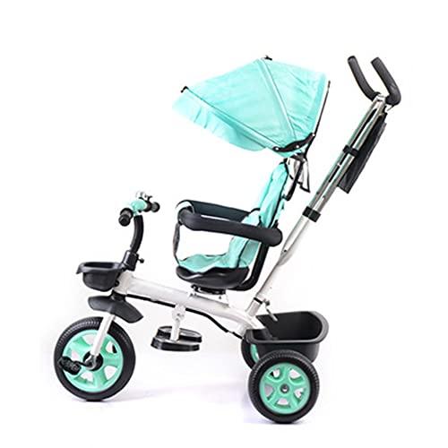 VIVIANSHOP Cochecito infantil de tres ruedas, de 1 a 3 a 5 a 2 a 6 años, cochecito de bebé grande, ligero Sky Blue