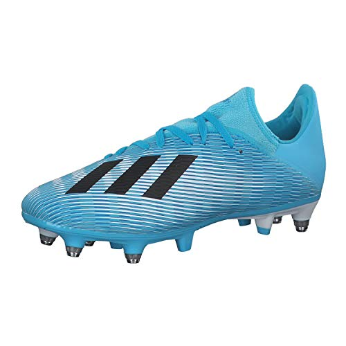 adidas X 19.3 SG, Scarpe da Calcio Uomo, Blu (Bright Cyan/Core Black/Shock Pink Bright Cyan/Core Black/Shock Pink), 42 EU