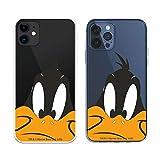 Funda para iPhone 12 - iPhone 12 Pro Oficial de Looney Tunes Pato Lucas Silueta Transparente para Proteger tu móvil. Carcasa para Apple de Silicona Flexible con Licencia Oficial de Warner Bros.