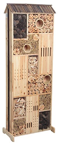 Grande hôtel maison à insectes en bois double face