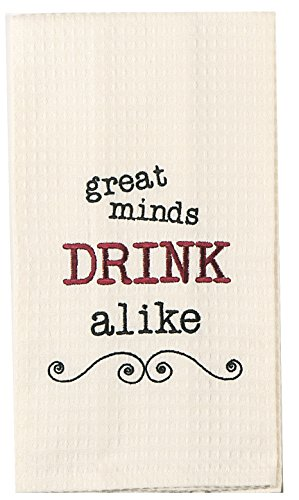Kay Dee Bebida por Igual Bordado Toalla