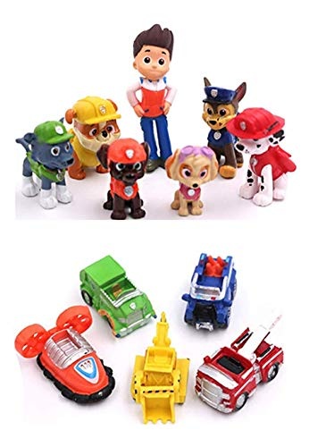 12PCS Paw Patrol Cake Topper, Cake and Cupcake Decorations, Paw Patrol Mini Toys, Children's Birthday Shower Party Supplies