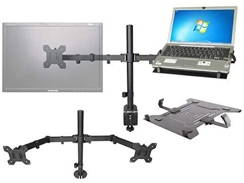 DRALL INSTRUMENTS PC TV Monitor Tischhalterung mit Ablage für Laptop Note- Netbook Tastatur PC-Keyboard Modell: LT5s-IP27B