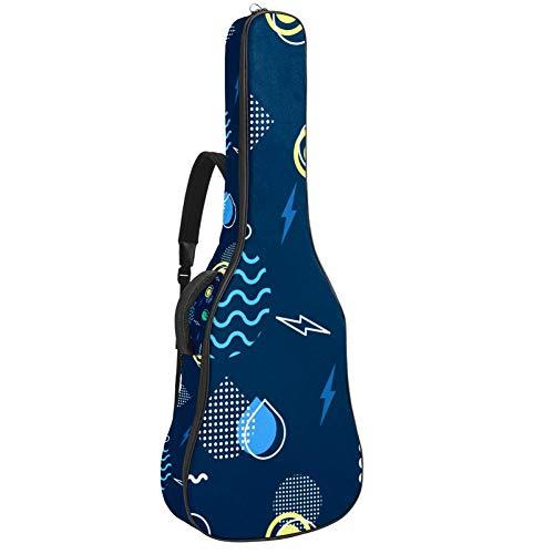 Bolsa para guitarra eléctrica, impermeable, con cremallera, suave, para bajo, acústica y clásica, estilo Memphis