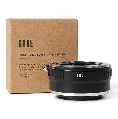 Gobe - Adaptador de Lente Compatible para Lentes Nikon F y cuerpos de cámara Sony E (con Montaje de trípode)