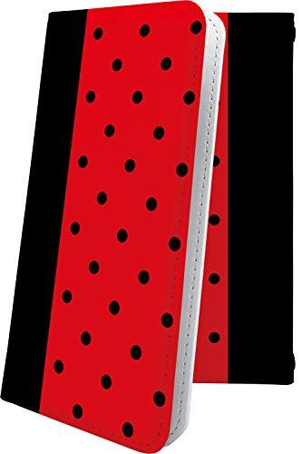 スマートフォンケース・Blade V7Lite / Blade V6・互換 ケース マルチタイプ マルチ対応スマートフォンケース・手帳型 赤 レッド 赤色 ドット 水玉 ブレイド ブラッド 手帳型スマートフォンケース・チェック チェック柄 bladev7 lite BladeV6 かわいい 可愛い kawaii lively