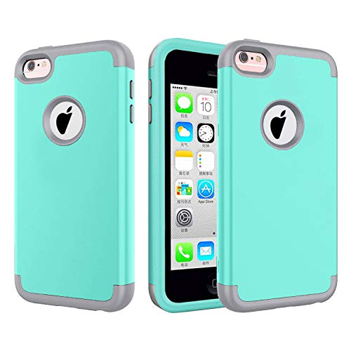 J.west 5C Case, iPhone 5C Case. Full Body Hybrid Hard PC and Soft Silicone...