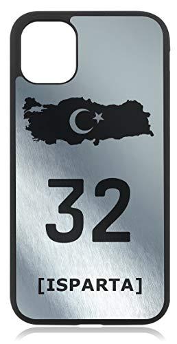 aina Türkiye Türkei 32 Isparta Bild Silber Metallic Silikon Handyhülle Kompatibel mit iPhone 8 Plus 8+ Case Hülle Cover