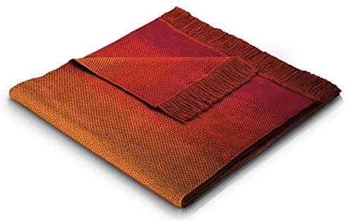 biederlack Sofa 50x200 cm I Sesselschoner Ombre Terra I Sofaschoner in orange I 60% Baumwolle, 40% dralon I Made in Germany, Terracotta