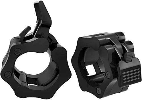 GWTech Barbell Clamps 2 Inch or 1 Inch, Heavy Duty Exercise Collars 2' 1' Quick Release Pair of Locking Pro Olympic Weight Bar Plate Locks Collar...