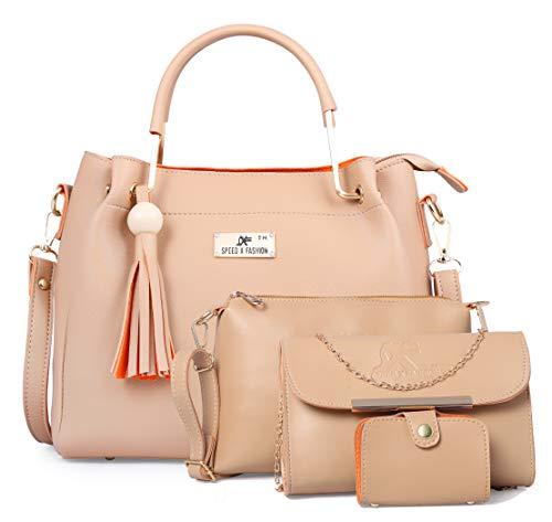 Speed X Fashion Women Handbag Cream