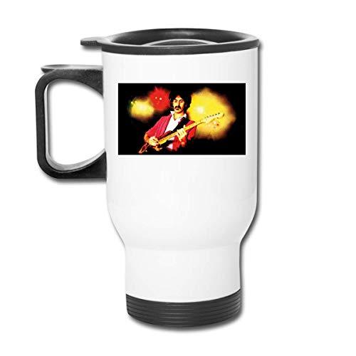 Taza de acero inoxidable para coche, termo eléctrico dorado, taza de viaje para taza de café Frank Zappa