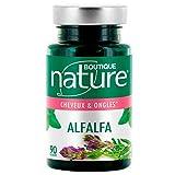 Boutique Nature - Complément Alimentaire - Ongles & Cheveux - Alfalfa - 90 Gélules Végétales - Beauté des Cheveux et des Ongles