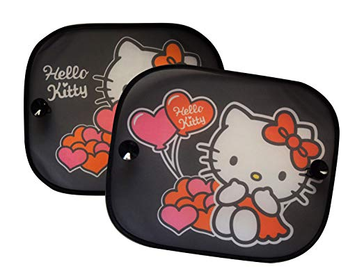 Hello Kitty HKSAA012 Lot de 2 Pare-Soleil Rose