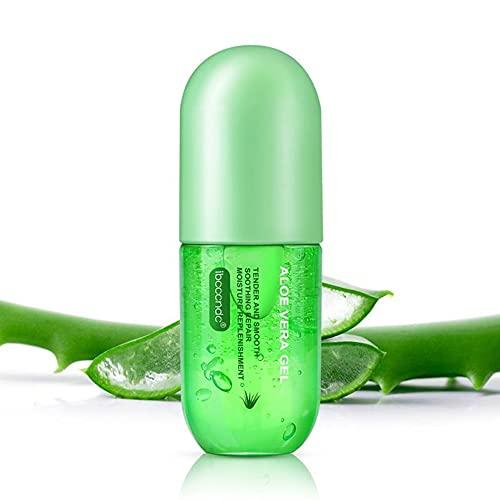 Gel de Aloe Vera Hidratante Facial y Corporal Orgánico Puro 100% - Hidratante Aftersun Nutritiva Relajante Calmante Acné Reparador Antiinflamatorio - Pequeño y Efectivo 50ml