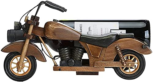 Wine Rack Motorcycle Wine Rack, Solid Wood Wine Bottle Holder Stand Rack Home Kitchen Table Art Decoration with Gift Card Dfvv