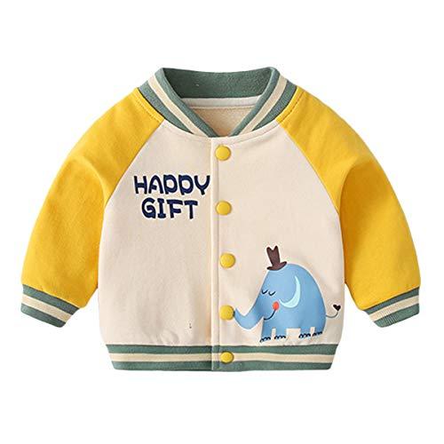 famuka chaqueta de bebé niño niña chaqueta de transición primavera verano ropa de bebé (Amarillo, 9-12 meses)