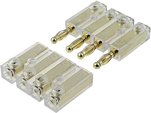 Soundboard Banana Kabel Stecker Verbinder Kupplung 4 polig - vergoldete Stecker
