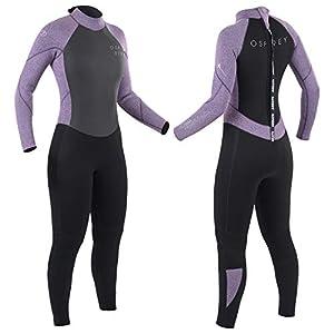 Osprey Womens Full Length 5 mm Winter Wetsuit, Adult Neoprene Surfing Diving Wetsuit, Zero, Purple