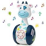 WolinTek Juguetes educativos tempranos,Juguetes Bebe ,Juguetes Musicales para Niños,Juguetes de Vaso Juguete de Sonido con Música y Luz,Máquina de Aprendizaje Regalo de Juguete (Vaca)