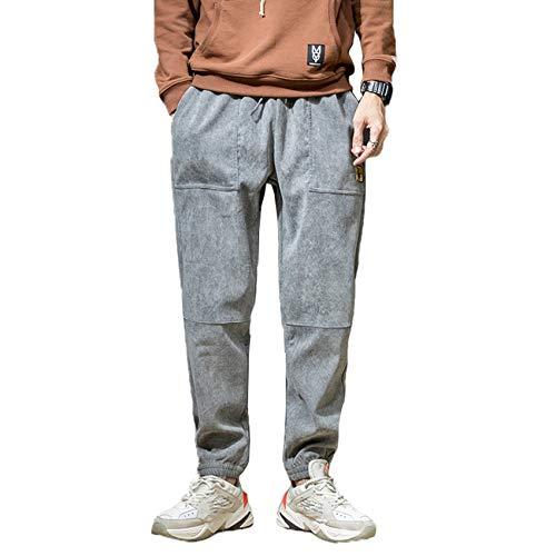XYJD Pantalones Casuales para Hombres otoño e Invierno nuevos Pantalones Casuales Pantalones Sueltos de Tendencia Pantalones para Hombres más Pana de Terciopelo Tendencia para Hombres