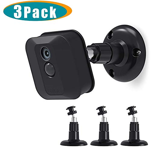 Blink XT2 Camera Wall Mount Bracket, Mrount 360 Degree Adjustable Mount for Blink XT2 Blink XTOutdoor/Indoor Camera, Fits Blink Home Security Camera System Accessories(3 Pack, Black)