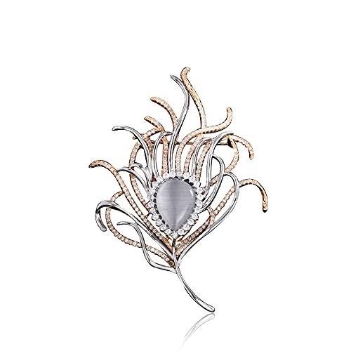 WQDS Broche De Diamantes De Imitación para Mujer, Broche Exquisito De Cristal A La Moda para Hombre, Broche De Solapa, Accesorios Elegantes para Vestido, Joyería, Traje, Corbata, Boda, Cumpleaños