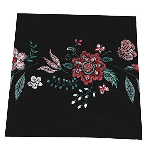 Ye Hua Traditionelle Blumenmuster mit Vogel und Blumen Tischsets für Esstisch Waschbare Tischset rutschfeste hitzebeständige Küchentischmatten Leicht zu reinigen 6er-Set