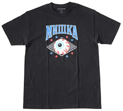MISHKA ミシカ Tシャツ 半袖 アーチロゴ キープウォッチ (FW191010) L BLACK