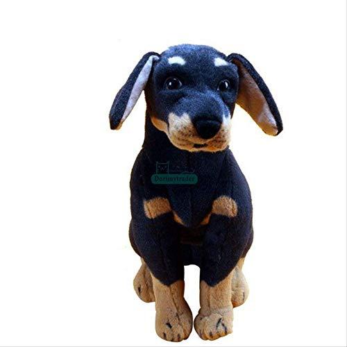 ZY Peluches, Pop Perro Relleno Simulación Animal Rottweiler Felpa muñeca de Juguete de niños 40cm Presente LOLDF1 (Size : 30cm)