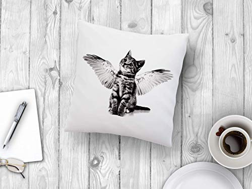 Pillow cat kitten with wings 16' cushion