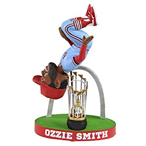 Ozzie Smith St. Louis Cardinals Flip with Gateway Arch - Powder Blue Bobblehead