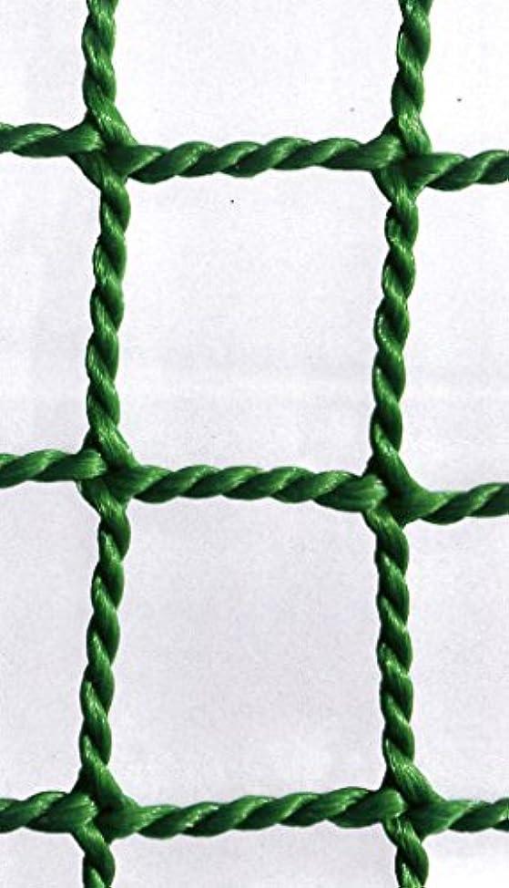 悲惨なあらゆる種類ののれん防球ネット 防球網 無結節440t(440d)180本|目合:45mm|グリーン|大きさ:3m×7m