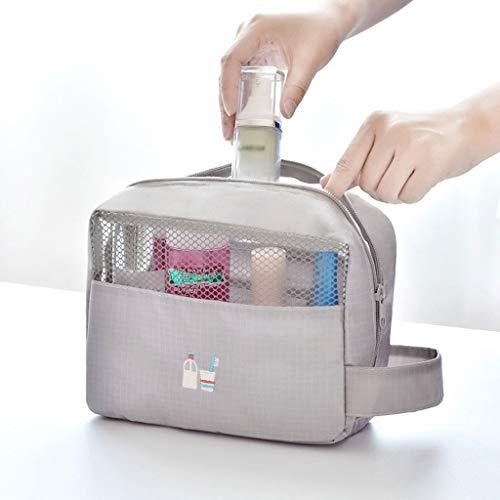 Hkwshop Sac Organiseur Sac Multifonction Sac cosmétique de Toilette Maquillage Portable Pouch Sac Voyage for Les Femmes Portable Makeup Case (Color : Gray)